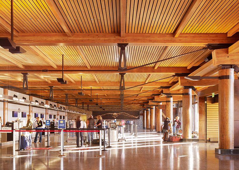 gensler structures jackson hole airport in wyoming usa