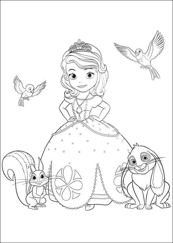 Princesa Sofia Dibujos Para Imprimir Y Colorear Dibujo Pinterest