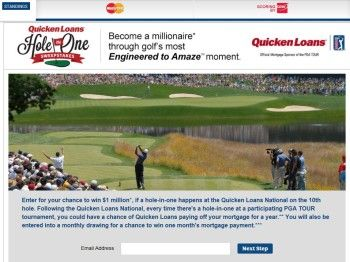 Quicken Loans Hole In One Sweepstakes Quicken Loans Sweepstakes