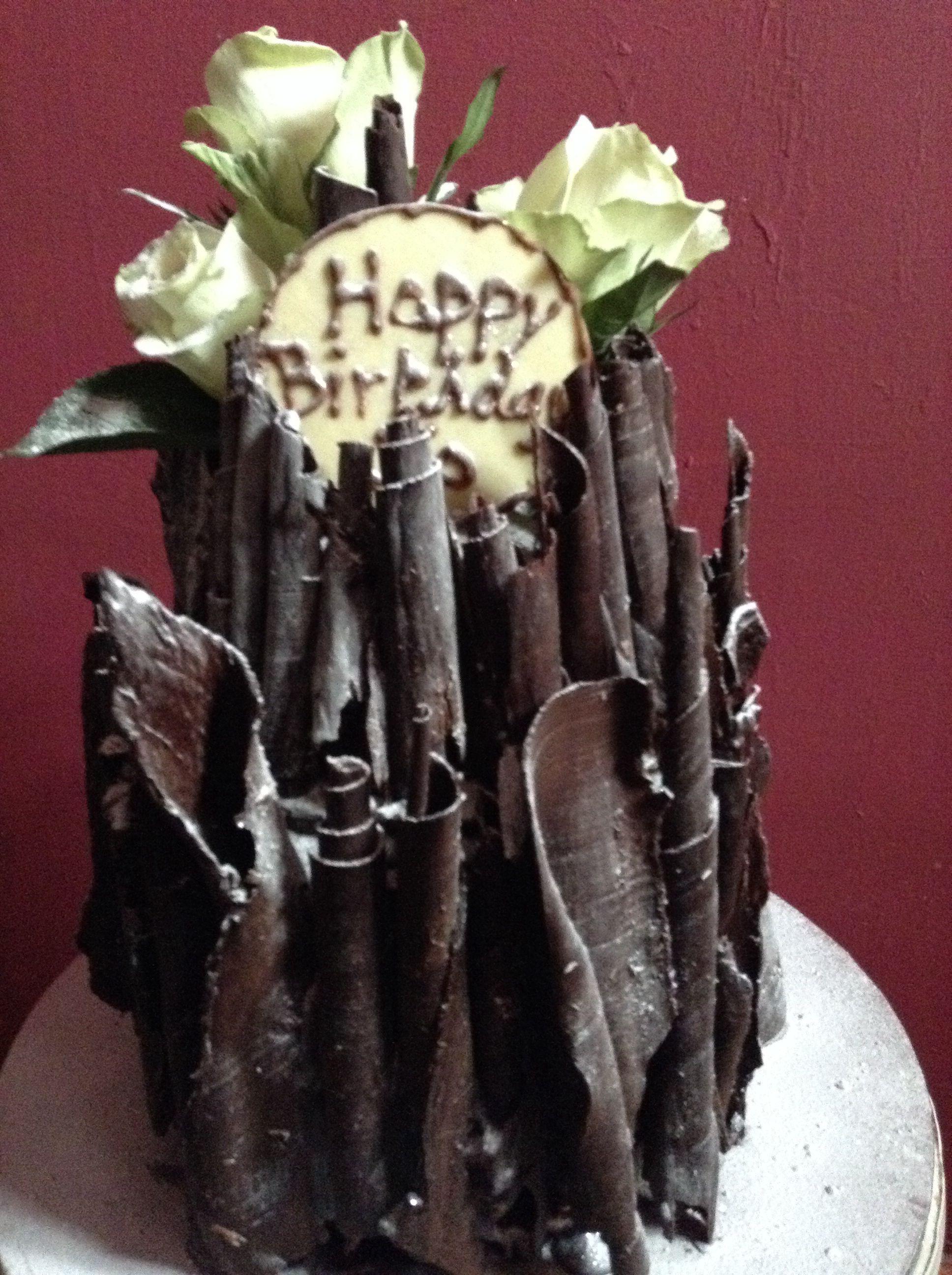 Admirable Richly Dark Chocolate Birthday Cake Birthday Cake Chocolate Funny Birthday Cards Online Necthendildamsfinfo