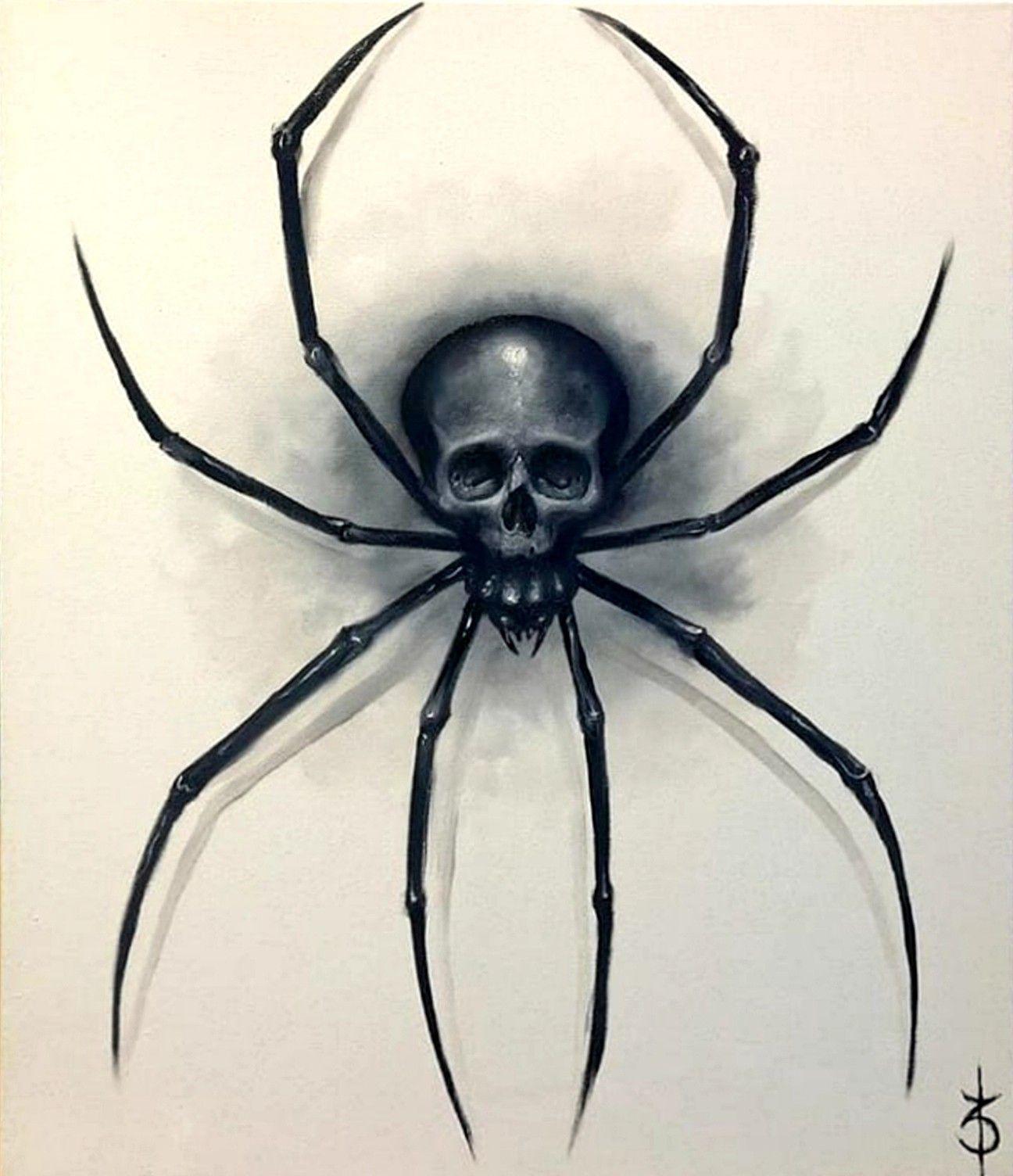 Skullssales Online Shop Spider Art Skull Art Spider Drawing