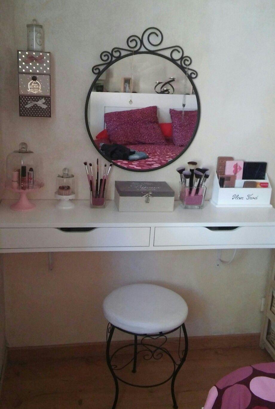 Meuble Coiffeuse Avec Miroir Ikea