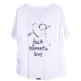 "Camiseta BERTA ""Fuck romantic love"" blanco  #uohop #uohopshop #slowfashion #ethicalfashion #cottonshirt #fuckromanticlove #white #wildreamers"