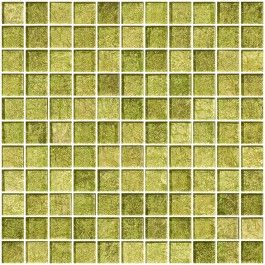 1 Inch Golden Dew Metallic Glass Tile