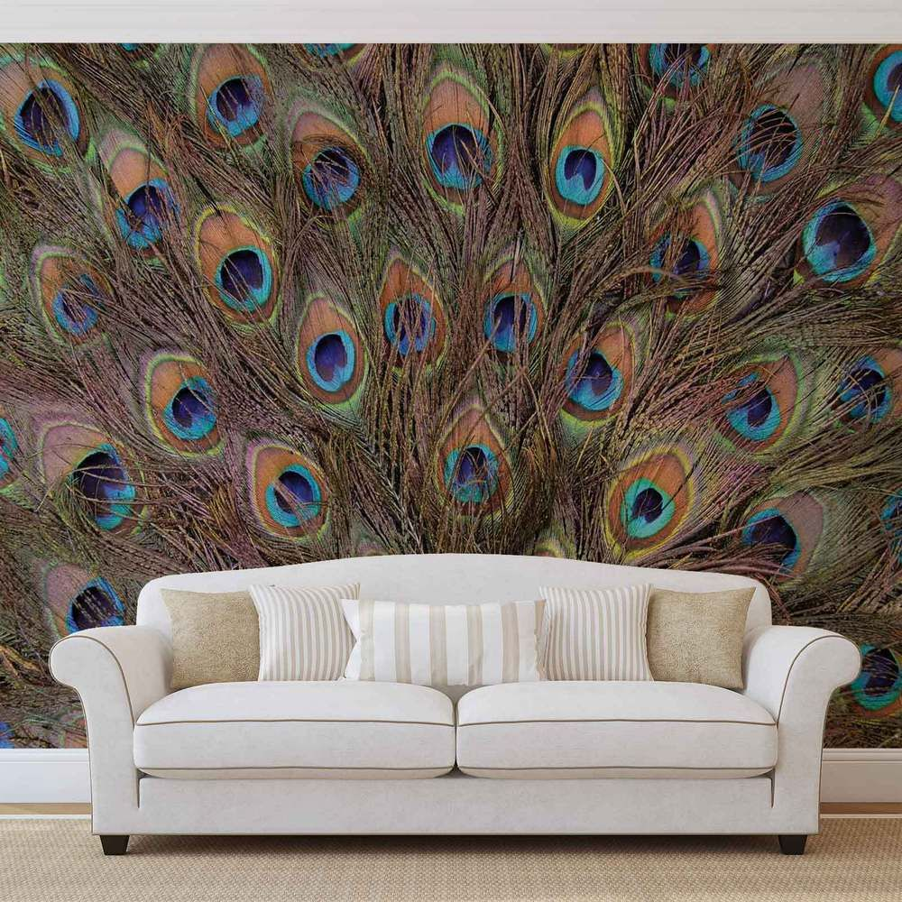 Peacock Feathers WALL MURAL PHOTO WALLPAPER (645DK