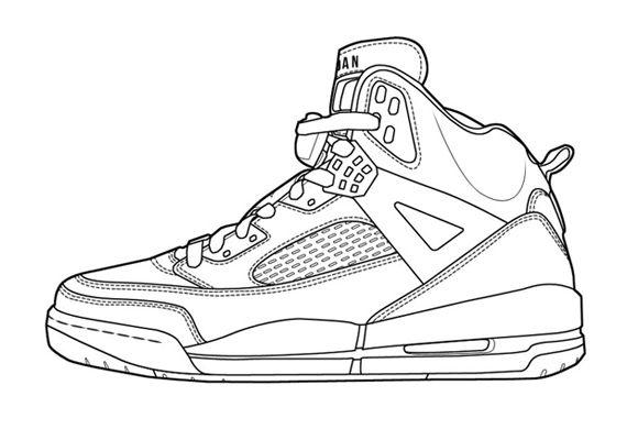 wholesale sales run shoes on feet shots of Air Jordan Spizike id | Dessin chaussure, Croquis de ...