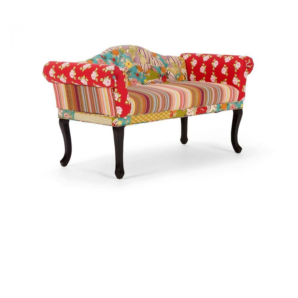 Patchwork Sofa 2sitzer Kuchensofa Stoff Bunt Design Cholet In Mobel