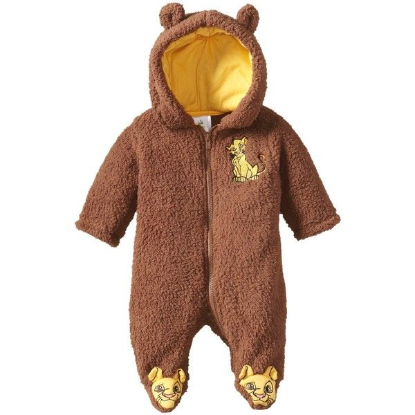 Disney The Lion King Fleece Onesie All in One Simba Pyjamas Kids Girls Boys Sleepsuit Onezee