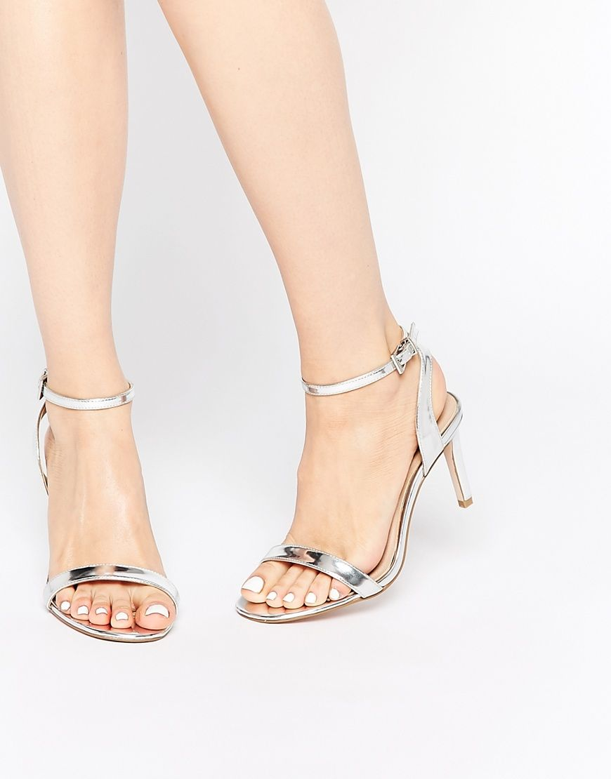 Asos Hooray Wide Fit Heeled Sandals At Asos Com Sandals Heels Heels Kitten Heel Sandals