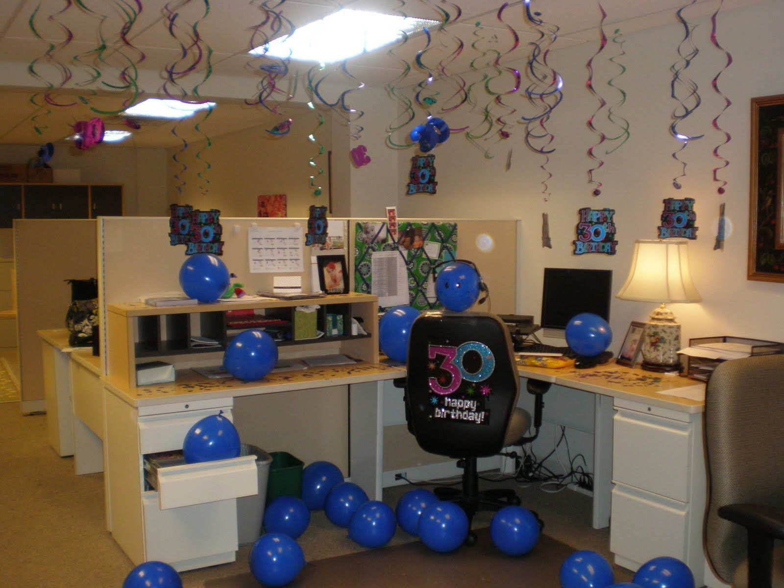 Birthday cubicle decorating ideas behind the seams with Cubicle desk decorating ideas