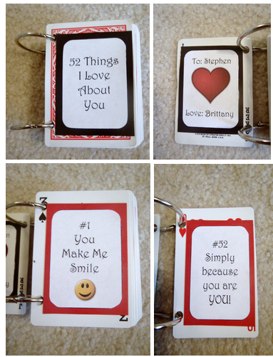52 Things I Love About You Cards I Made To Give Stephen Diy Gifts For Boyfriend Scrapbook Gift Boyfriend Gifts