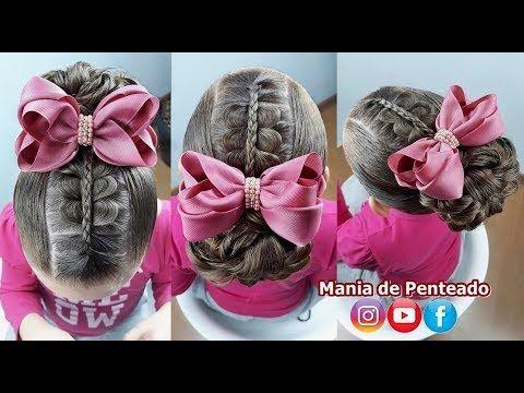 Peinado fácil para niños para fiestas | Peinados fáciles con banda elástica para niña …
