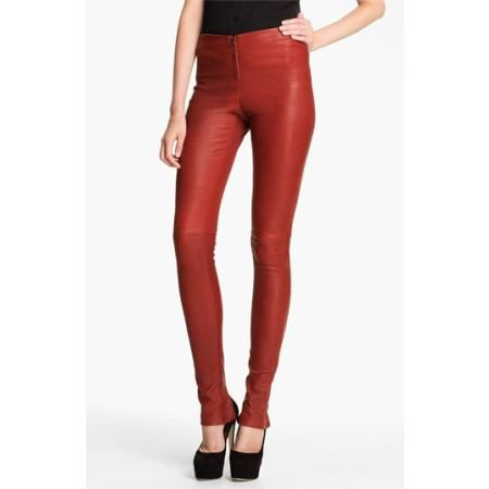 Alice   Olivia Skinny Lambskin Leather Leggings