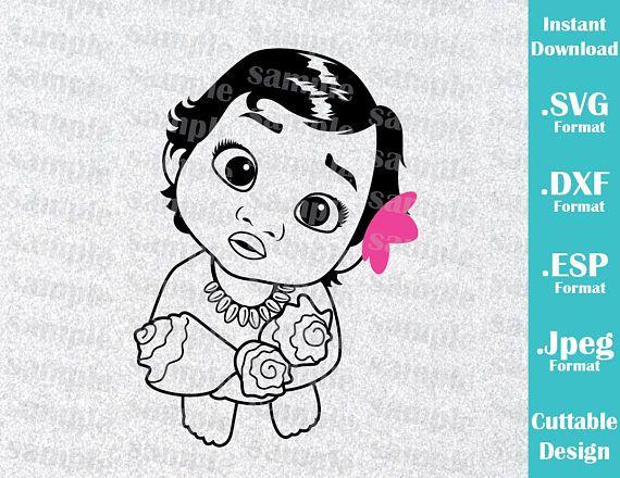 Descarga Inmediata Svg Disney Inspirado Bebe Princesa Moana De
