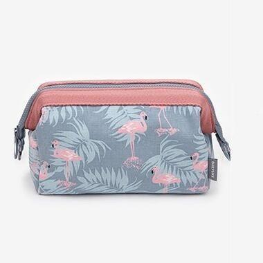 7350ba6e1629 Women Travel Cosmetic Bag Animal Flamingo Make Up Bags Girl Function ...