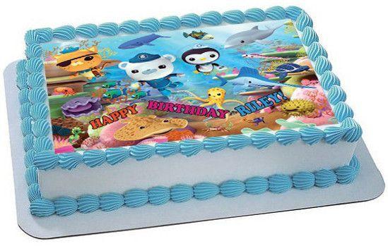 OCTONAUTS 3 Edible Birthday Cake Topper OR Cupcake Decor