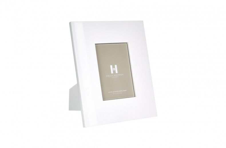 White Lacquer Frame 5 X 7 From Kelly Hoppen London Picture