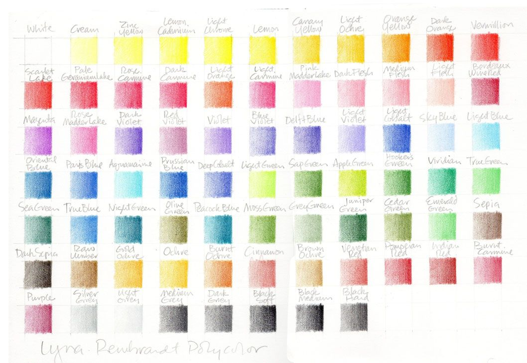 Colored Pencil Swatches With Images Colored Pencils Art Blog