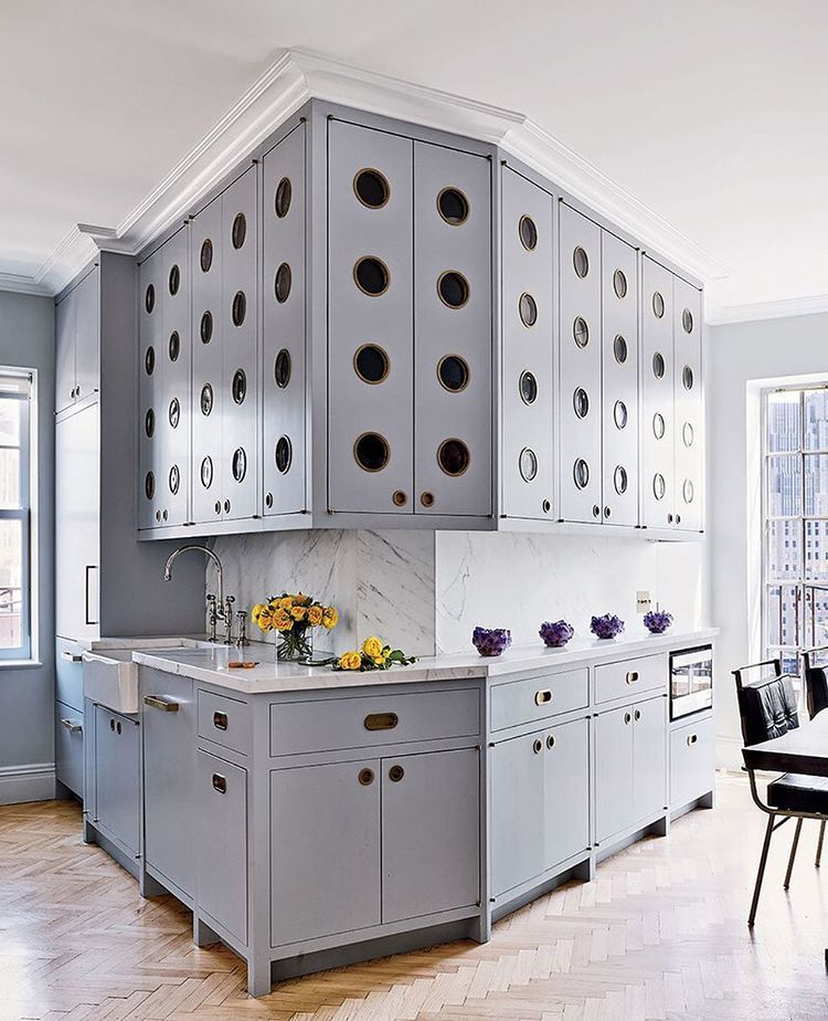 The Kitchen In A Greenwich Village Home Designed By
