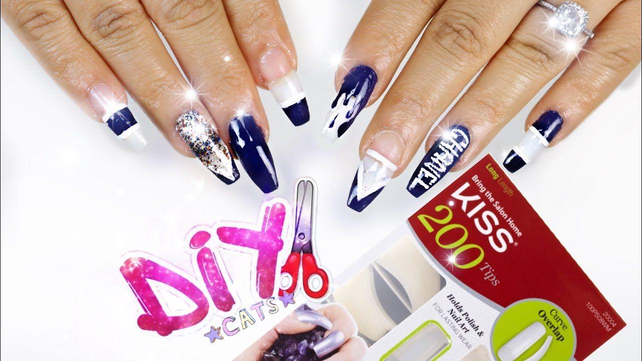 Diy kiss nail kit coffin nails step by step kiss nails