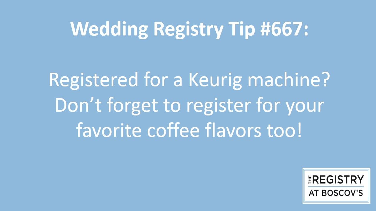 The Registry At Boscovs Tip No 667 Wedding Gift Coffee