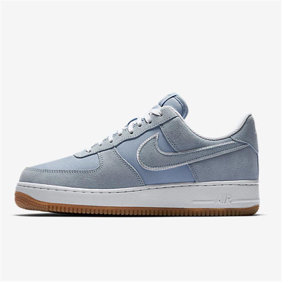 c77049457 Nike Air Force 1 07 (Light Armory Blue / White / Gum Light Brown / Light  Armory Blue)