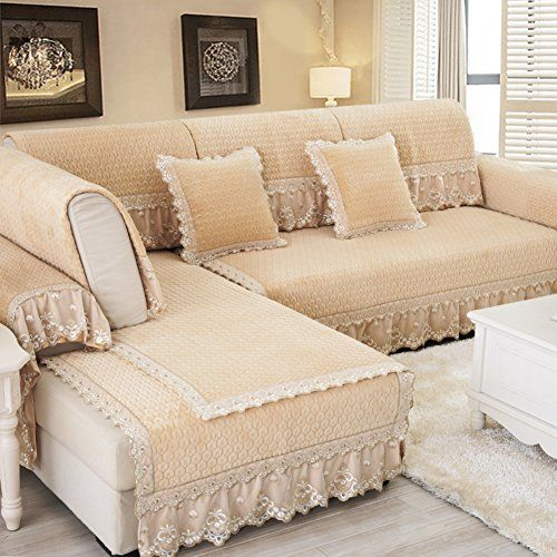 Sofa Slipcovers Covers Protector Furniturecontinental Plush Cushions Anti Slip Fabric Seat Of The Four Seasons Towel Lace S