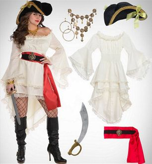 Women's Caribbean Pirate #diypiratecostumeforkids
