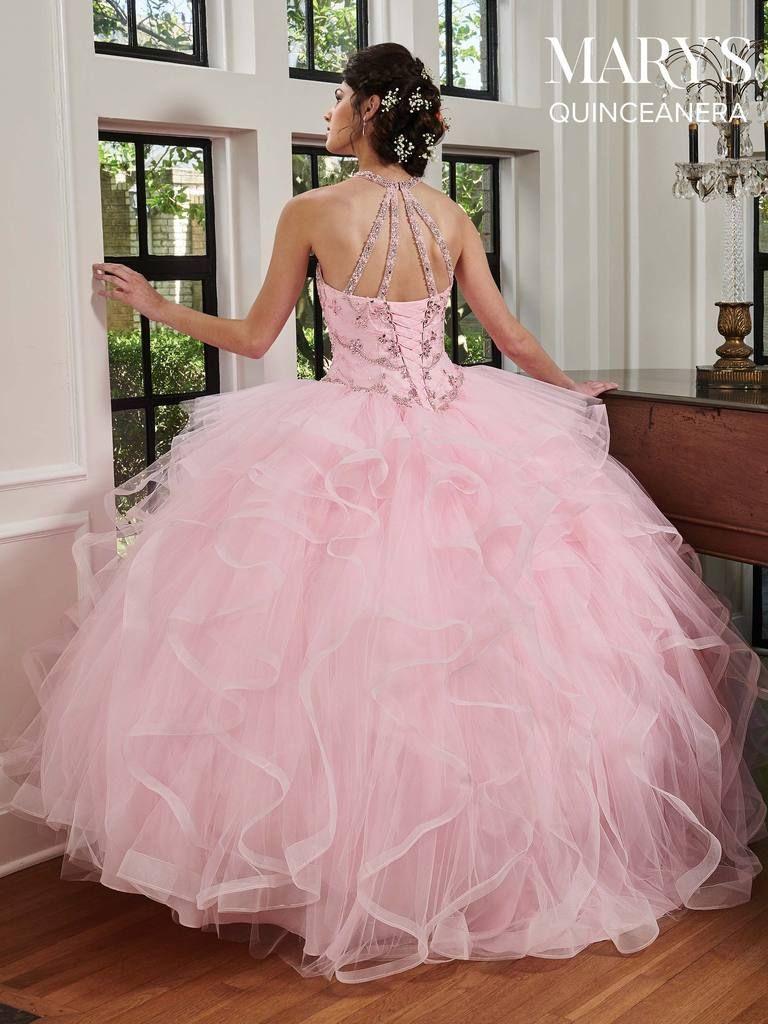 3445add90f1 Ruffled Halter Quinceanera Dress by Mary s Bridal MQ2040-Mary s Bridal-ABC  Fashion