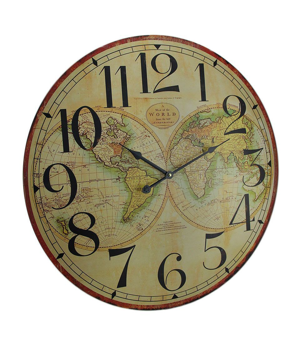 Map of the world decorative wooden wall clock wooden walls and map of the world decorative wooden wall clock gumiabroncs Gallery