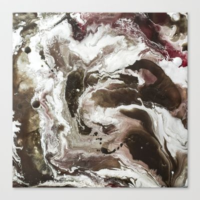 Color Commentary #11: S'mores & Jam (Brown & Silver) [Becky Tinner] Stretched Canvas by Abigail Markov - $85.00
