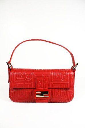 dacf1de9b200 Fendi Handbags Baguette with Red Leather Chain 8BR600 (Clutch ...
