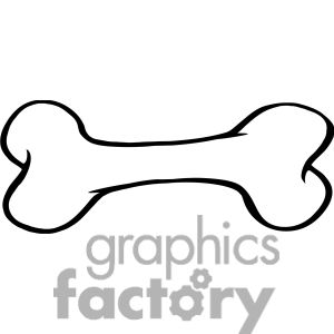 Royalty Free Rf Copyright Safe Cartoon Dog Bone Clipart