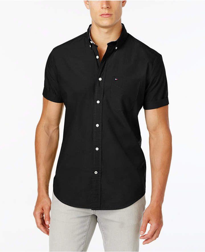 cf520ca7b Tommy Hilfiger Men Maxwell Short-Sleeve Button-Down Classic Fit Shirt