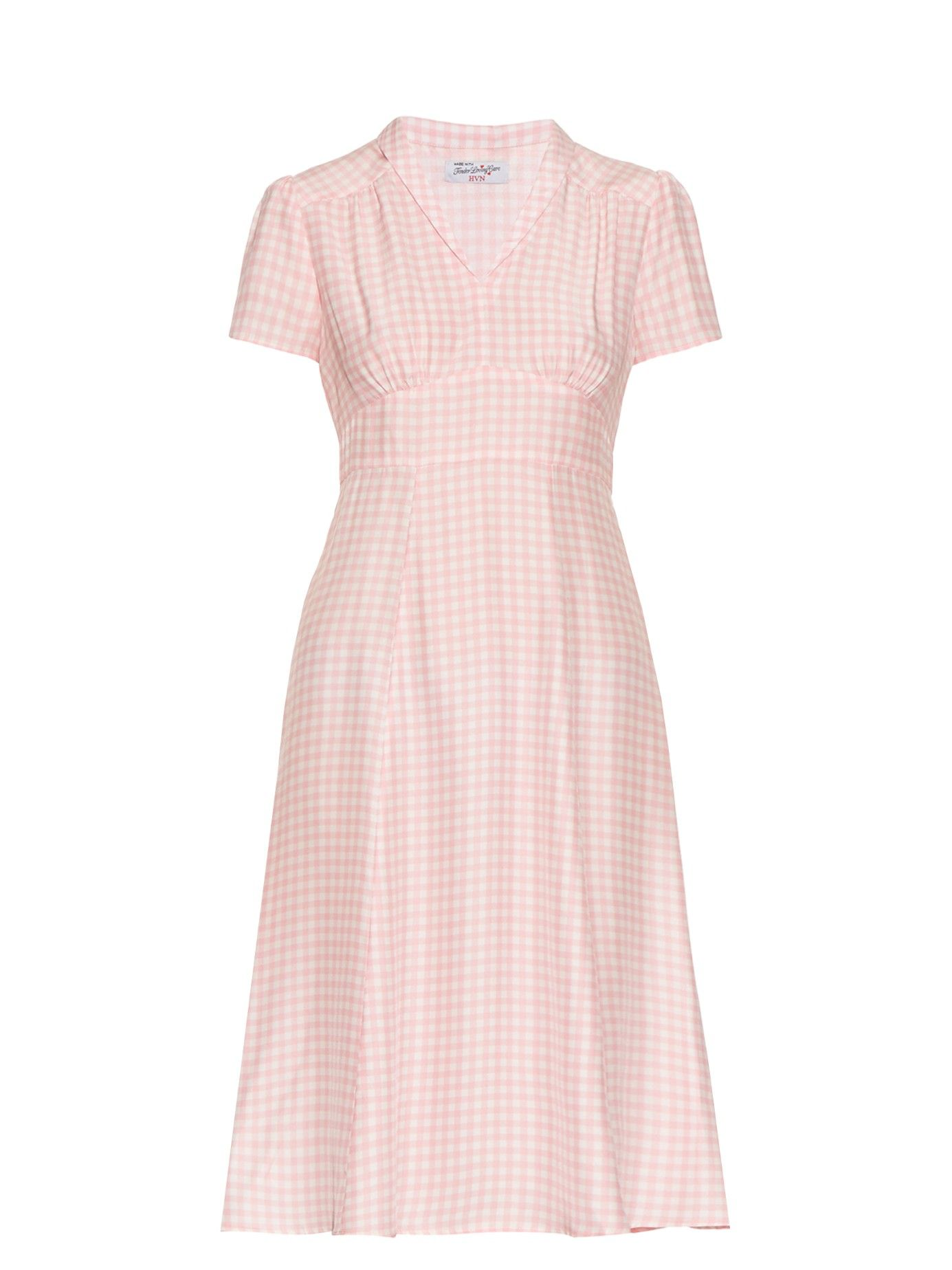 aebaae55c35 Morgan gingham short-sleeved dress