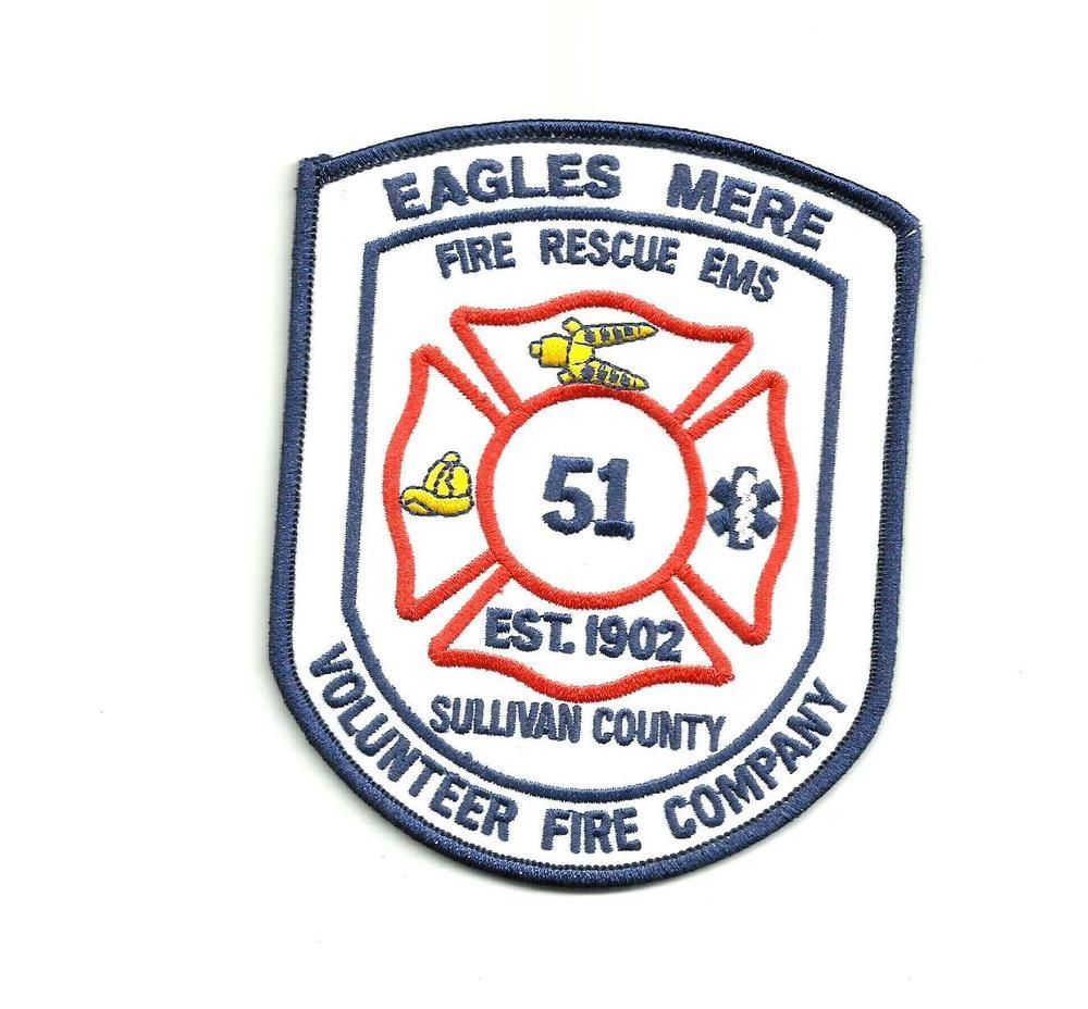 LAKE PARSIPPANY NEW JERSEY NJ Volunteer Fire Company FIRE PATCH Patches
