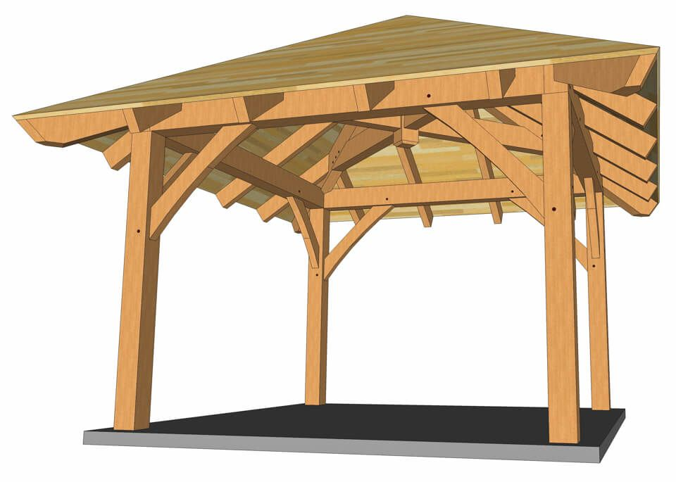 12x12 Timber Frame Gazebo Plan Timber Frame Hq In 2020 Gazebo Plans Timber Frame Hip Roof