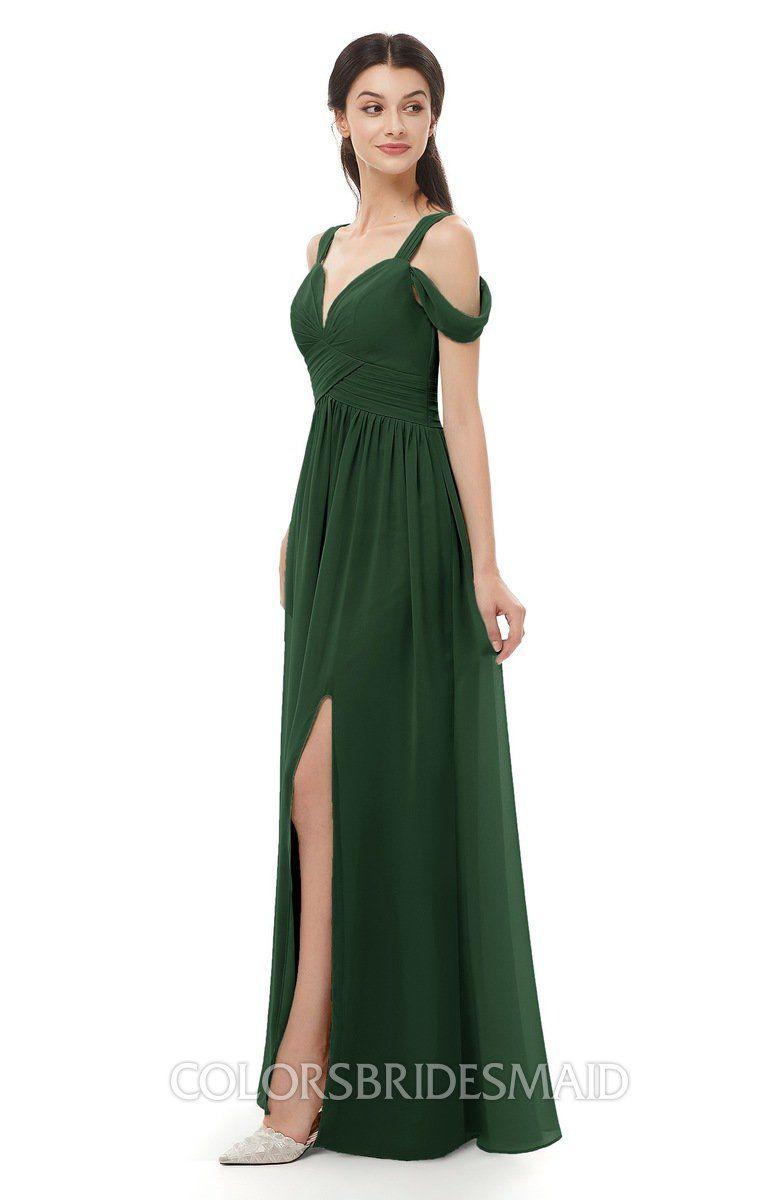 26dec86a86a ColsBM Raven Bridesmaid Dresses Split-Front Modern Short Sleeve Floor  Length Thick Straps A-line  colsbm  bridesmaids  bridesmaiddress  weddings .