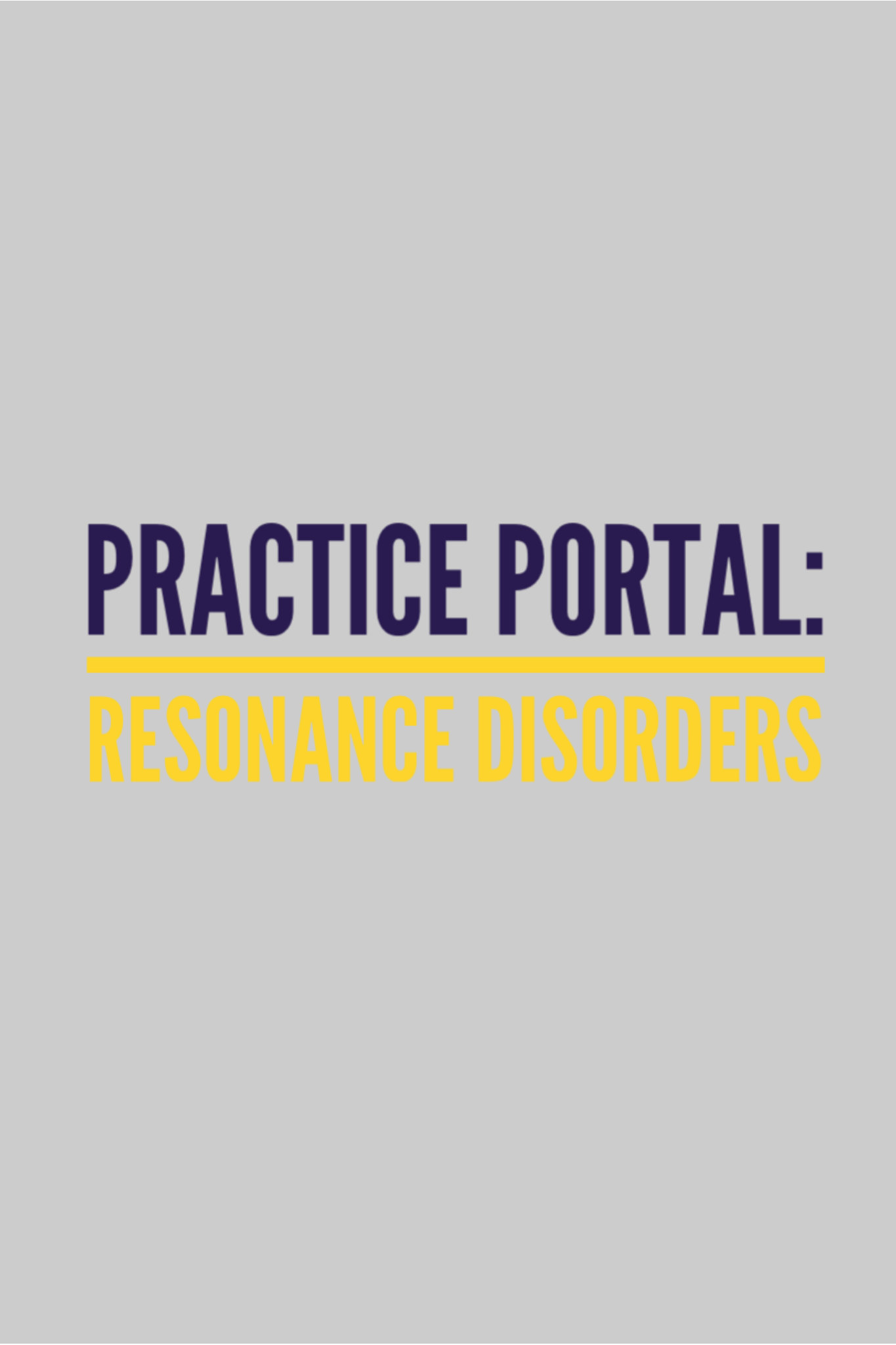 Resonance Disorders Curated And Peer Reviewed Content On