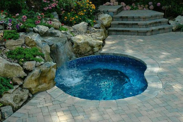 Image Result For Diy In Ground Spa Hot Tub Outdoor Hot Tub Landscaping Backyard Pool