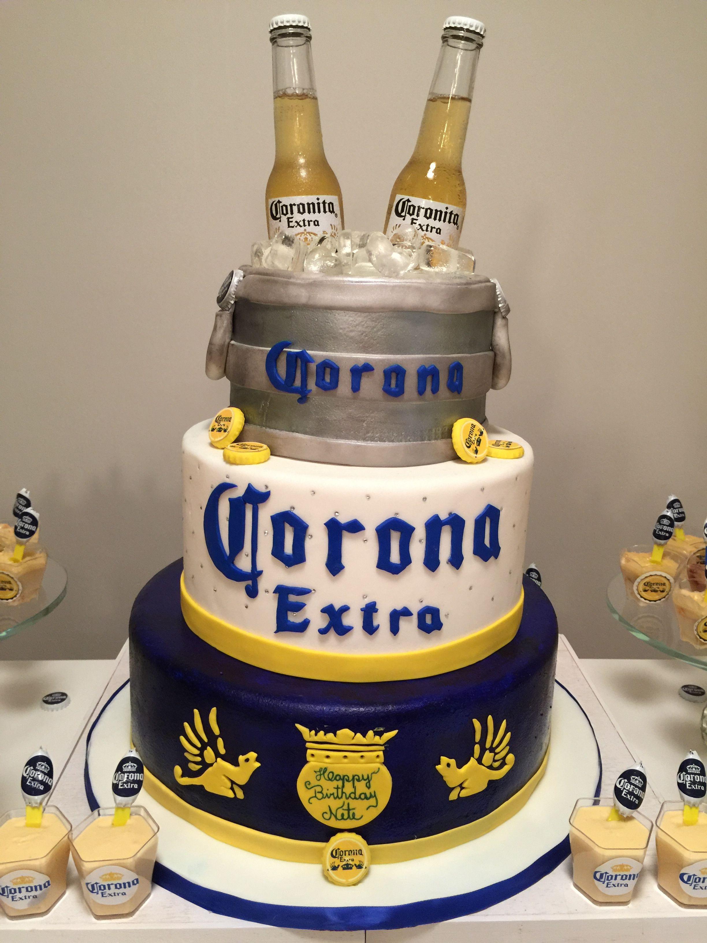 Corona Pastel de cerveza ideas, Tortas de cumpleaños de