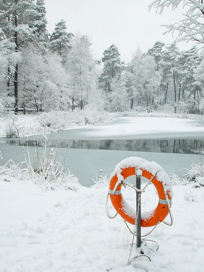 Lifebuoy. At Frozen Lake, Could Be Used As Metaphore