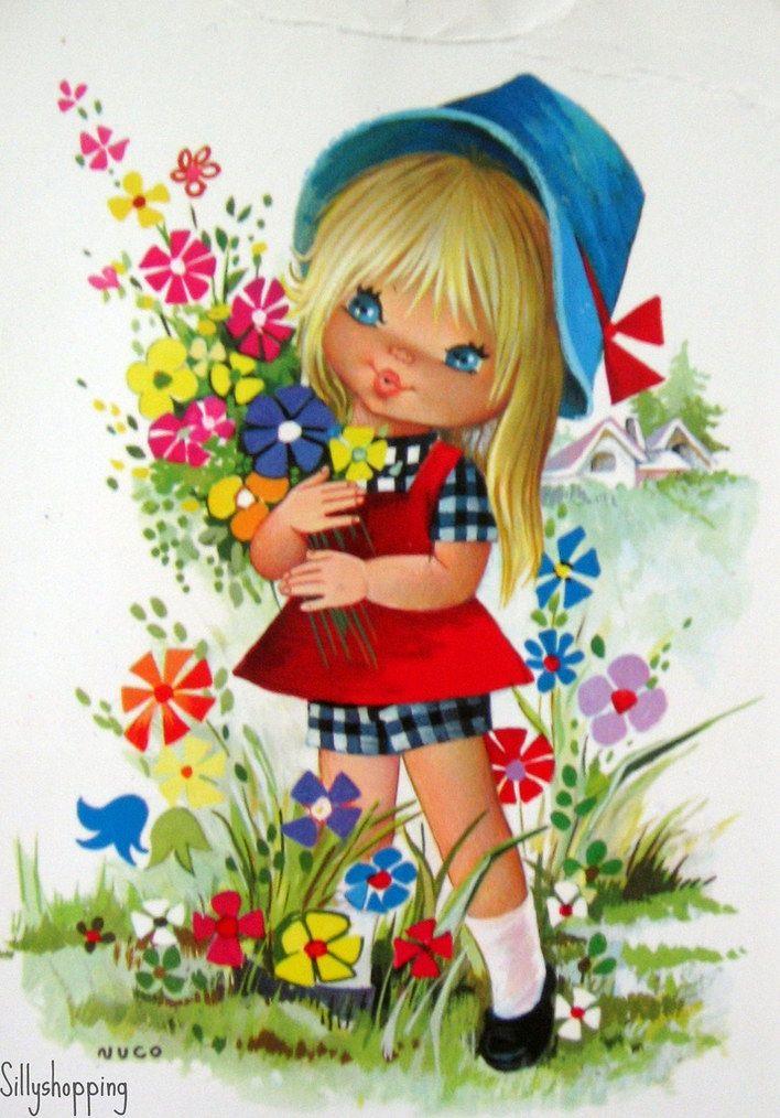 Открытки, открытки для девочек цветы