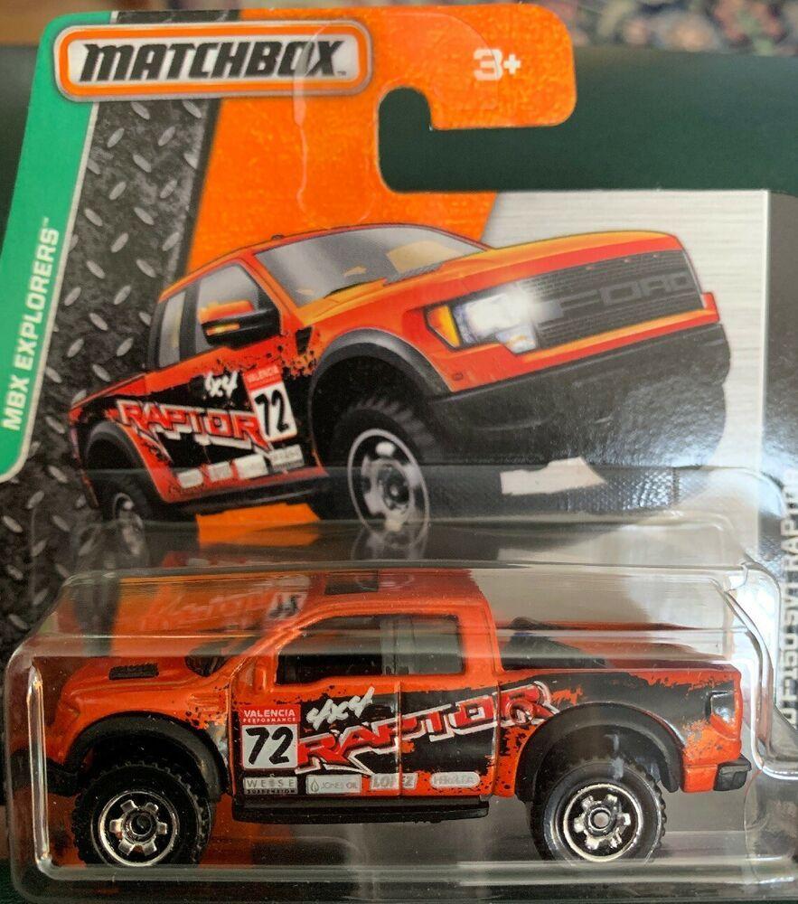 Matchbox 118 Ford F 150 Svt Raptor Orange Pickup Truck Mbx Explorers Short Card Ebay Matchbox Ford F150 Pickup Trucks