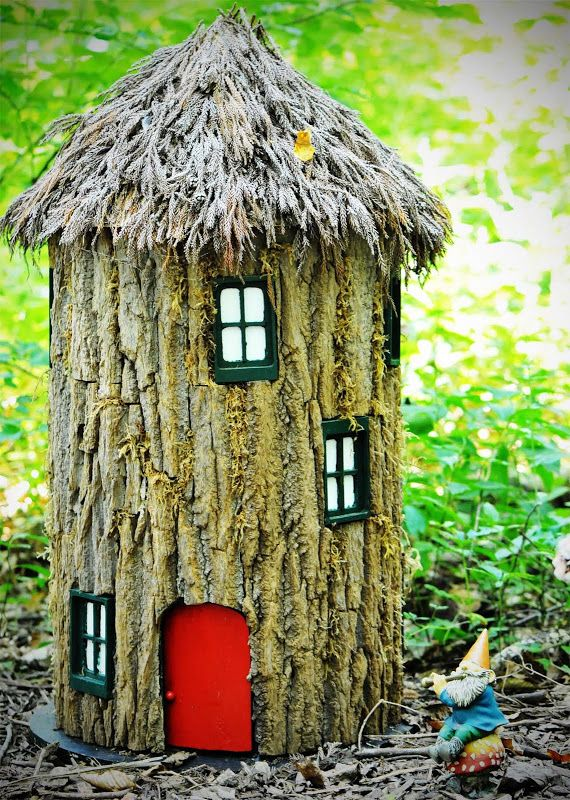 Gnome Tree Stump Home: A Gnome Home From A Tree Stump! Snips And Snails And Puppy