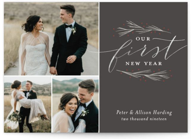 Our First Married Christmas Holiday Petite Cards Married