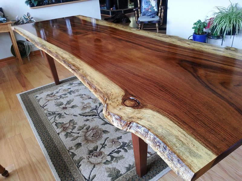 A 9.5 Ft Long Costa Rican Rosewood Tabletop Finished With Waterlox Original  Sealer/Finish By
