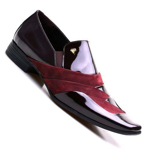 be9fcfcbb Sapato Social Masculino Verniz Azul Brilhoso Lançamento - R$ 159,00 em Mercado  Livre