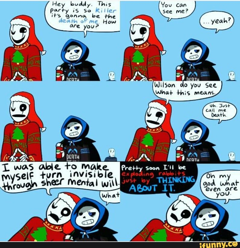 Christmas Party Au Comic.A Quality Gaster Moment From The Mighty Crayon Queen Ut
