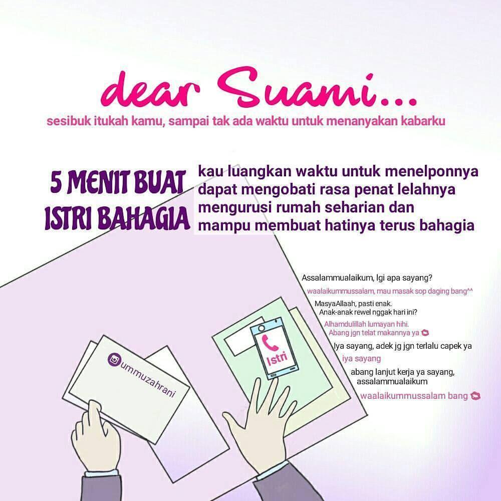 Fiqih Muslimah Di Instagram Dear Suami Sesibuk Apapun Dirimu